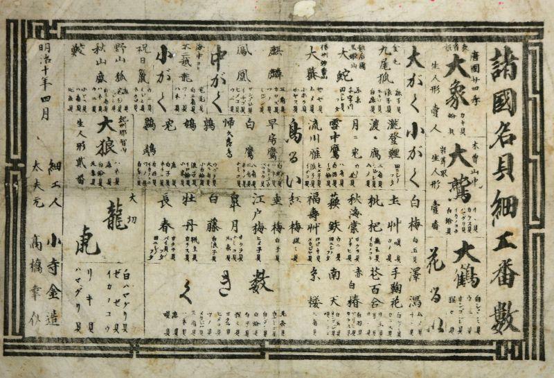 画像1: 諸国名貝細工番数 (1)