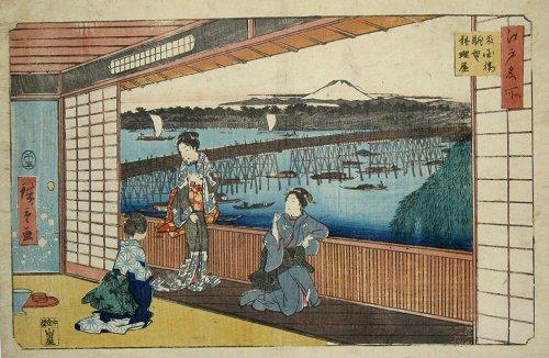 画像1: 江戸名所 両国橋眺望 料理屋 (1)
